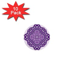 Mandala Purple Mandalas Balance 1  Mini Buttons (10 pack)