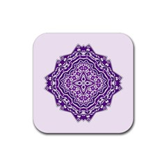 Mandala Purple Mandalas Balance Rubber Square Coaster (4 Pack)