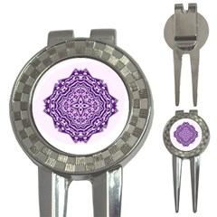 Mandala Purple Mandalas Balance 3 In 1 Golf Divots