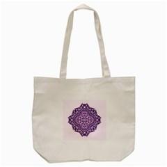 Mandala Purple Mandalas Balance Tote Bag (cream)