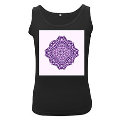 Mandala Purple Mandalas Balance Women s Black Tank Top