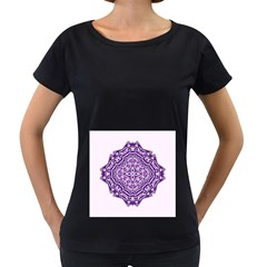 Mandala Purple Mandalas Balance Women s Loose-Fit T-Shirt (Black)