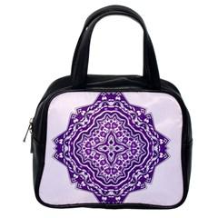 Mandala Purple Mandalas Balance Classic Handbags (one Side)