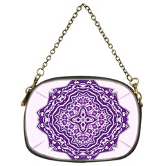 Mandala Purple Mandalas Balance Chain Purses (one Side)