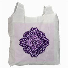 Mandala Purple Mandalas Balance Recycle Bag (one Side)