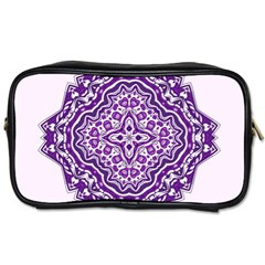 Mandala Purple Mandalas Balance Toiletries Bags 2 Side