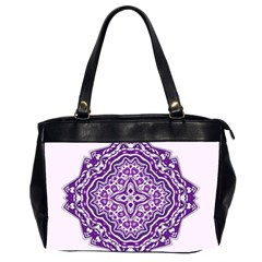 Mandala Purple Mandalas Balance Office Handbags (2 Sides)