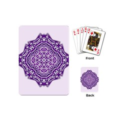Mandala Purple Mandalas Balance Playing Cards (Mini)