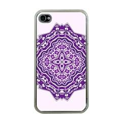 Mandala Purple Mandalas Balance Apple iPhone 4 Case (Clear)