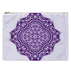 Mandala Purple Mandalas Balance Cosmetic Bag (XXL)