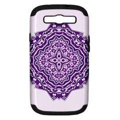 Mandala Purple Mandalas Balance Samsung Galaxy S III Hardshell Case (PC+Silicone)