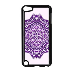 Mandala Purple Mandalas Balance Apple iPod Touch 5 Case (Black)