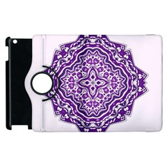 Mandala Purple Mandalas Balance Apple iPad 2 Flip 360 Case