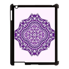 Mandala Purple Mandalas Balance Apple iPad 3/4 Case (Black)