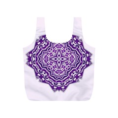 Mandala Purple Mandalas Balance Full Print Recycle Bags (S)