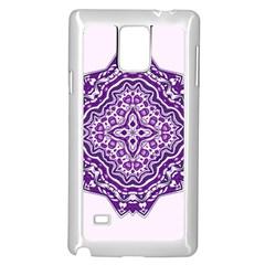 Mandala Purple Mandalas Balance Samsung Galaxy Note 4 Case (white)