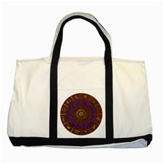 Zodiak Zodiac Sign Metallizer Art Two Tone Tote Bag