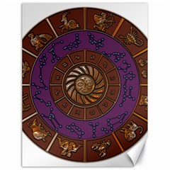 Zodiak Zodiac Sign Metallizer Art Canvas 18  x 24