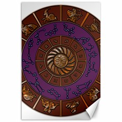 Zodiak Zodiac Sign Metallizer Art Canvas 24  X 36