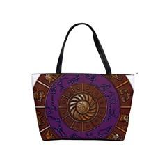 Zodiak Zodiac Sign Metallizer Art Shoulder Handbags