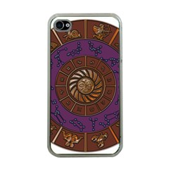 Zodiak Zodiac Sign Metallizer Art Apple iPhone 4 Case (Clear)