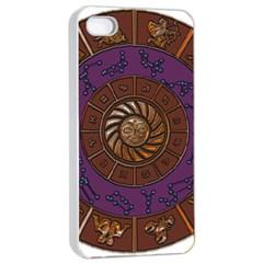 Zodiak Zodiac Sign Metallizer Art Apple iPhone 4/4s Seamless Case (White)