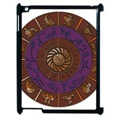 Zodiak Zodiac Sign Metallizer Art Apple iPad 2 Case (Black)