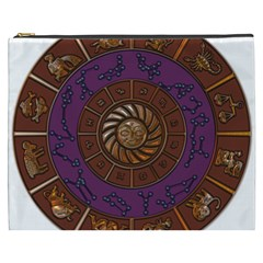 Zodiak Zodiac Sign Metallizer Art Cosmetic Bag (XXXL)