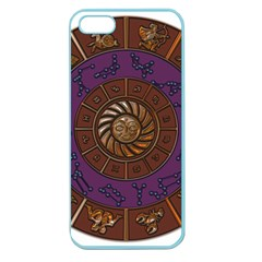 Zodiak Zodiac Sign Metallizer Art Apple Seamless iPhone 5 Case (Color)