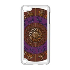Zodiak Zodiac Sign Metallizer Art Apple iPod Touch 5 Case (White)