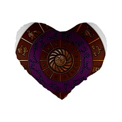 Zodiak Zodiac Sign Metallizer Art Standard 16  Premium Heart Shape Cushions