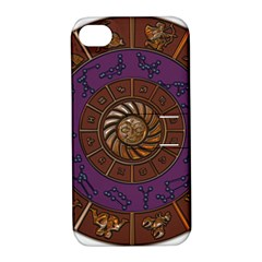 Zodiak Zodiac Sign Metallizer Art Apple iPhone 4/4S Hardshell Case with Stand