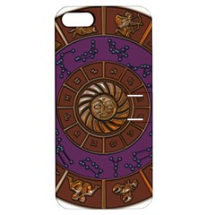 Zodiak Zodiac Sign Metallizer Art Apple iPhone 5 Hardshell Case with Stand