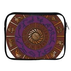 Zodiak Zodiac Sign Metallizer Art Apple iPad 2/3/4 Zipper Cases
