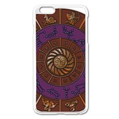 Zodiak Zodiac Sign Metallizer Art Apple Iphone 6 Plus/6s Plus Enamel White Case
