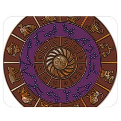 Zodiak Zodiac Sign Metallizer Art Double Sided Flano Blanket (Medium)