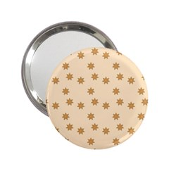 Pattern Gingerbread Star 2.25  Handbag Mirrors