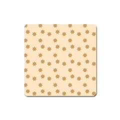 Pattern Gingerbread Star Square Magnet
