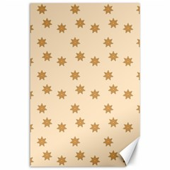 Pattern Gingerbread Star Canvas 24  x 36