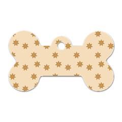 Pattern Gingerbread Star Dog Tag Bone (One Side)