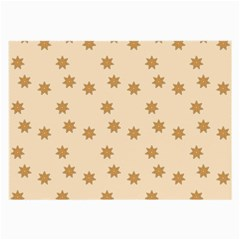 Pattern Gingerbread Star Large Glasses Cloth (2-Side)