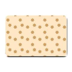 Pattern Gingerbread Star Small Doormat