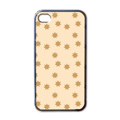 Pattern Gingerbread Star Apple iPhone 4 Case (Black)