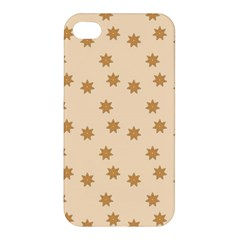 Pattern Gingerbread Star Apple iPhone 4/4S Hardshell Case
