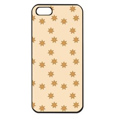 Pattern Gingerbread Star Apple Iphone 5 Seamless Case (black)