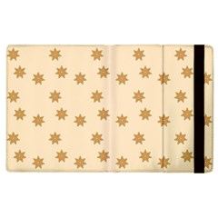Pattern Gingerbread Star Apple iPad 2 Flip Case