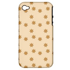 Pattern Gingerbread Star Apple iPhone 4/4S Hardshell Case (PC+Silicone)