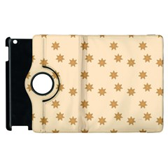 Pattern Gingerbread Star Apple iPad 2 Flip 360 Case