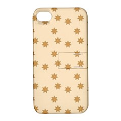 Pattern Gingerbread Star Apple iPhone 4/4S Hardshell Case with Stand