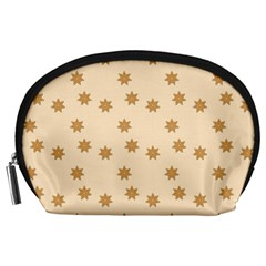 Pattern Gingerbread Star Accessory Pouches (Large)